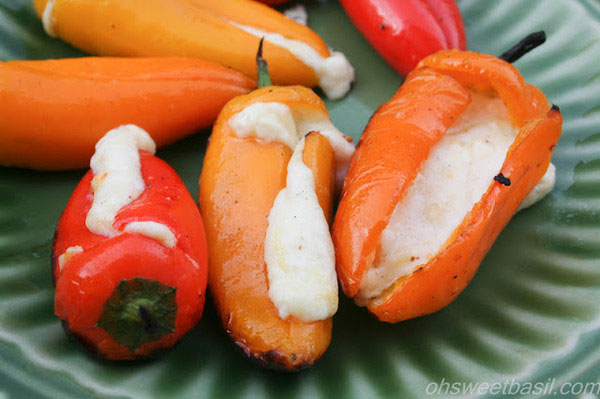 Cheese Filled Grilled Peppers