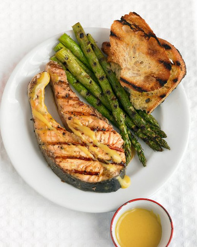 Healthy Grilled Salmon Steak Recipe