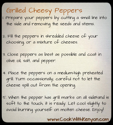 Grilled Cheesy Peppers Recipe Kenyon