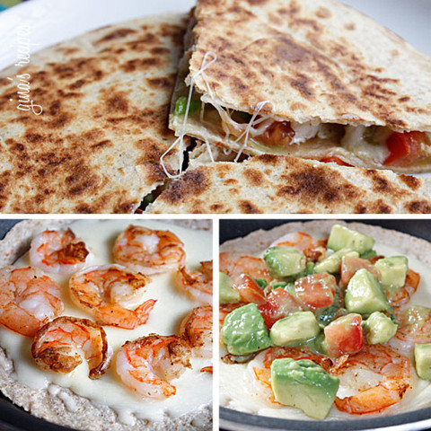 Healthy Grilled Recipe - Shrimp Avocado Quesadilla