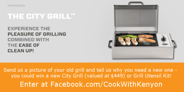 City Grill kenyon Facebook Contest Giveaway smokeless electric free