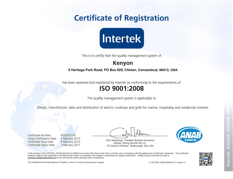 Iso 90012008 Kenyon