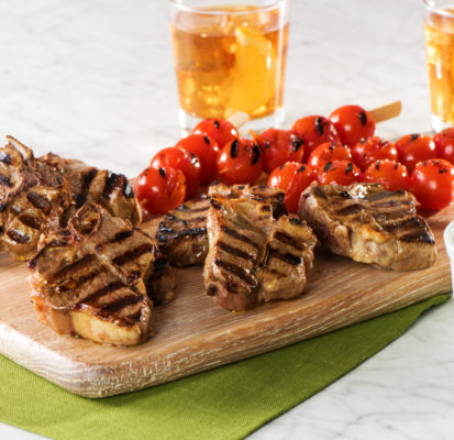 Grilled Lamb Chops with Cherry Tomato Skewers-022